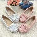 Высокое качество туфли-детей обувь обувь для девочек мягкой подошвой из натуральной кожи девочек на плоской подошве мода кисточкой бездельники детская обувь