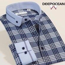 Модные Для мужчин Бизнес рубашка Для мужчин Рубашки для мальчиков Для мужчин повседневная хлопковая рубашка Hombres Camisas Camisa De Hombre