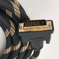 DVI 24 1 Dual Link Cable Gold Plated Male Male Compatible DVI 24 5 Copper Cable