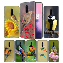 lovely birds Soft Black Silicone Case Cover for OnePlus 6 6T 7 Pro 5G Ultra-thin TPU Phone Back Protective
