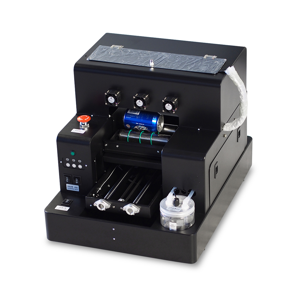 2019 Automatic A4 Small Size LED UV Printer with RIP 9.0 Software for Bottle, Cylinder, Phone Case, TPU, PVC, Metal, Wood