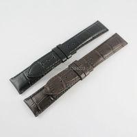 20mm (Buckle18mm) T097407A T097410A dinheiro Macho Preto ou Brown Genuine Leather Assista Bandas Strap