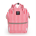 Stripes rucksack School bags teenager vintage casual solid backpack fashion women school backpack shoulder Bag oxford Mochila