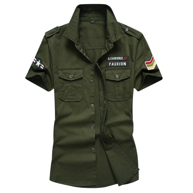 2017 sommer neueste männer kurzarm baumwolle shirts military design - Herrenbekleidung