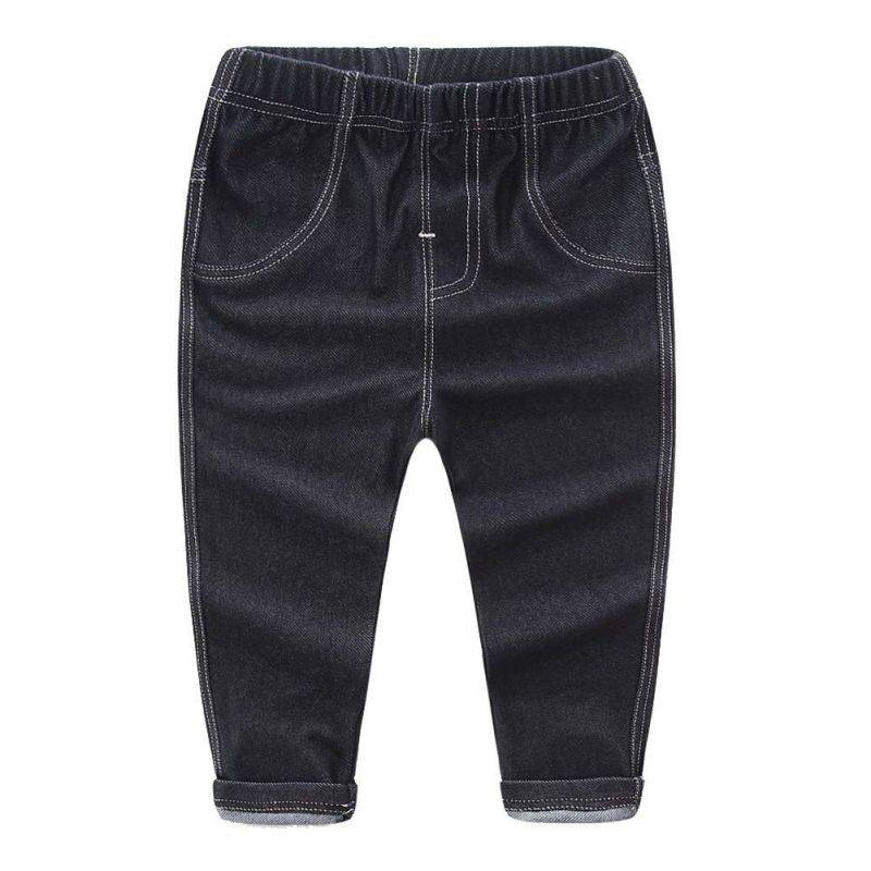 Baby Denim Pants With Pocket Kids Cool Washing Trouser Toddler All Match Jeans Spring Autumn Children Clothes