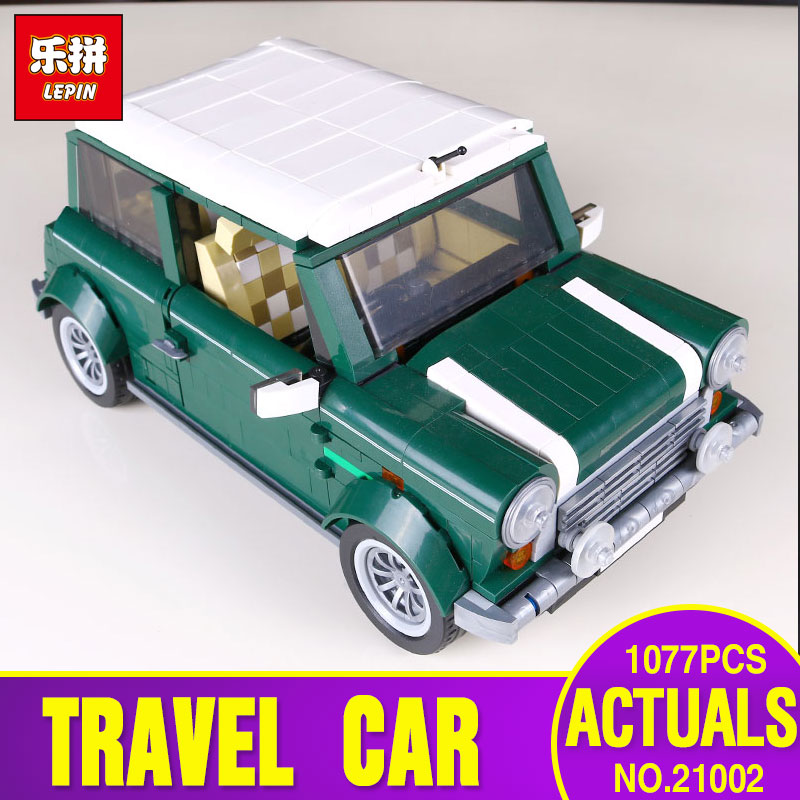 2018 LEPIN 21002 compatible legoing Technic series Cooper MK VII Model Kits Building Blocks Bricks Toy With 10242 Children Gift 1077 pcs building blocks yile 002 mini cooper model building car for kids bricks for gift compatible with lego 10242 lepin 21002