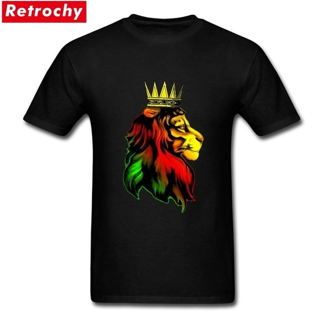 b2e9eda3 T Shirt Design Custom Reggae Rasta Lion Couple camiseta Short Sleeve Cotton  T-shirts Plus