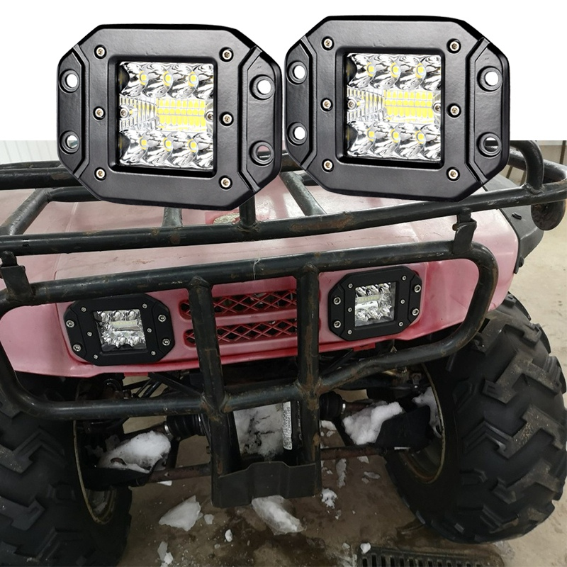 CREK 5 quot 39W 48W Flush Mount LED Light Pods Offroad LED Driving Light ATV LED Light For Jeep 4x4 4WD SUV ATV Motorcycle in Light Bar Work Light from Automobiles amp Motorcycles