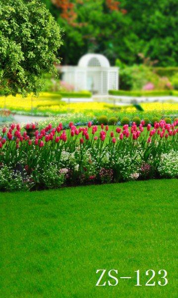 8x15ft Green Forest Garden Tulip Flowers Park Wedding