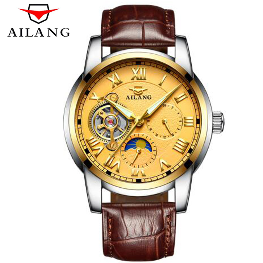 Top Brand Luxury Mens Watches Tourbillon Fashion Mechanical Watch Multifunction Waterproof Men Casual Luminous Wrist watch 2017 fagor 6fi 4glsxnat