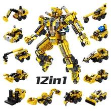 12в1 Робот серии трансформации автомобиля Спорт автомобиль деформации Боевая игрушка Детские конструкторы подарок