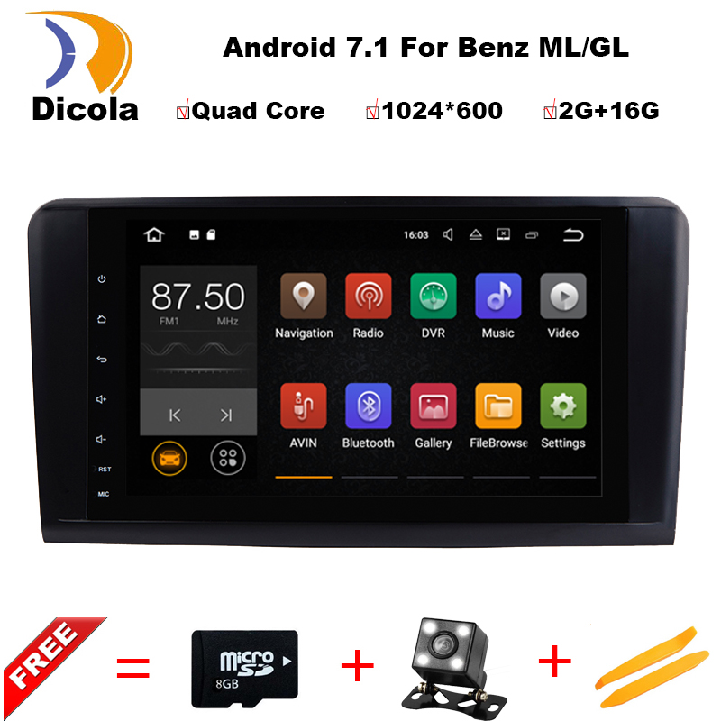 Dicola 2 Din 9 Inch Android 7 1 1 font b Car b font DVD Player