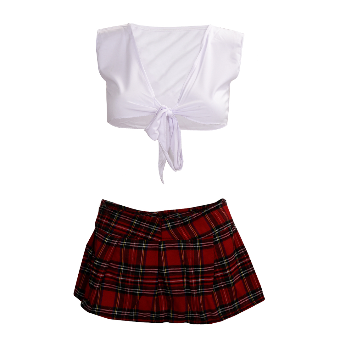 TFG Blanc avec Rouge École sexy lingerie Jeu uniforme Étudiant japonais kimono filles Maid Costumes érotique vêtements pyjamas Charme