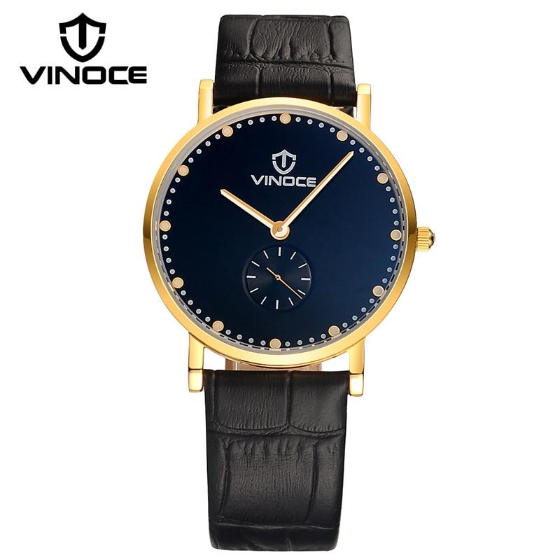 VINOCE 2018 Luxury Brand Ultra-thin Watches Men Vintage Genuine Leather Strap Gentlemen Watch Waterproof Relogio Masculino italians gentlemen пиджак