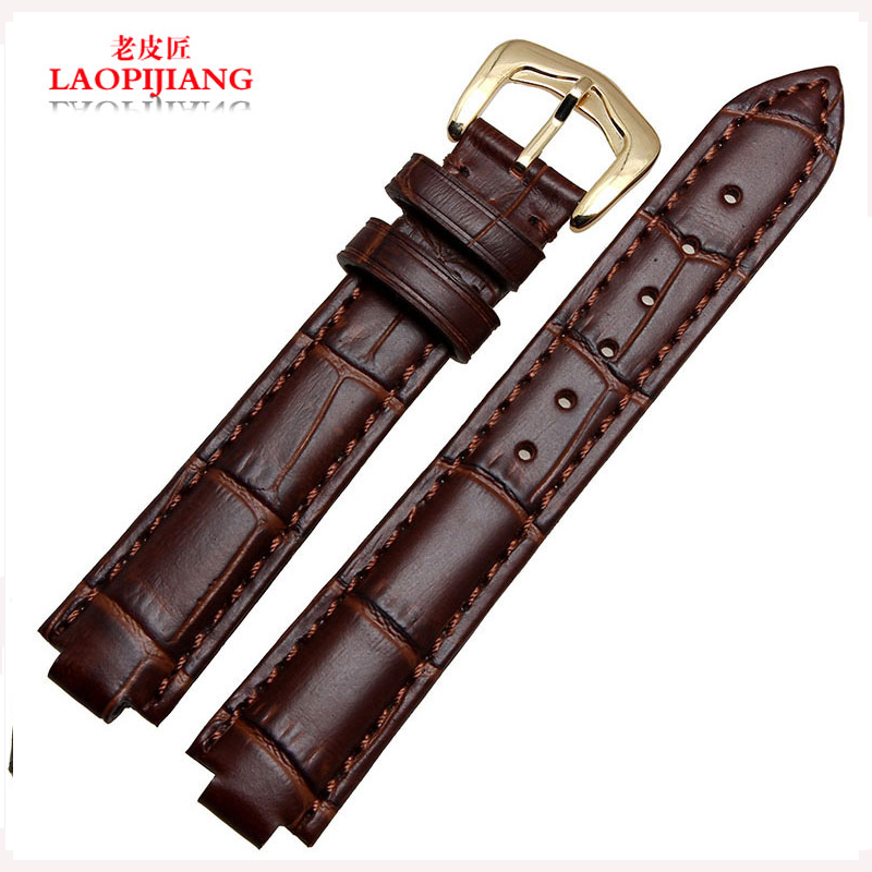 Laopijiang Calfskin leather strap convex mouth bracelet strap accessories are suitable for men and women W6900456