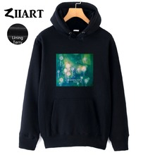 Dandelion Seeds Freedom life Taraxacum Green plant watercolor print Couple Clothes Autumn Winter Terry Girls Woman Hoodie ZIIART цены