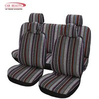 8Pcs/Set Universal Ethnic Colored Car Seat Cover Flax Auto Seat Protectors Decoration Interior Accessories for Volkswagen