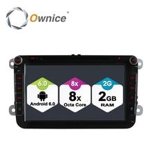 "8 ""Ownice 2 Din Android 6.0 Octa 8 Core 2G RAM DVD Del Coche jugador Para Volkswagen Passat GOLF POLO Skoda Asiento 4G Nerwork LTE 32 GB ROM"