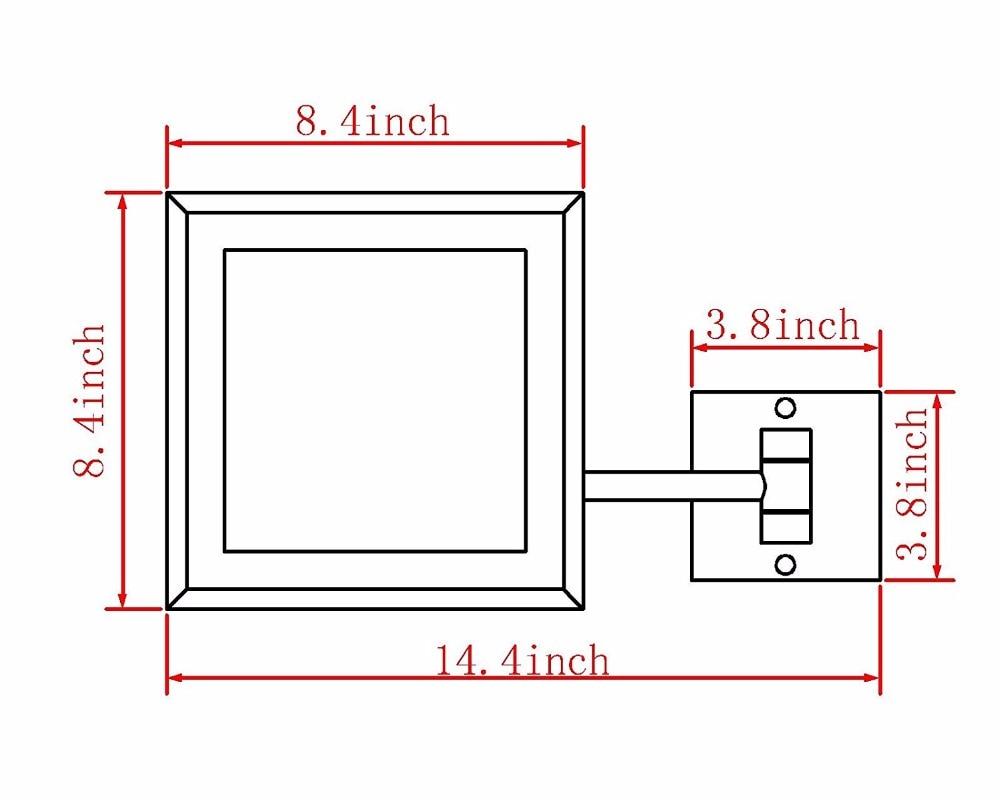 GURUN Wandmontage Vergrootglas Led-verlichting Verlichte - Huidverzorgingstools - Foto 6