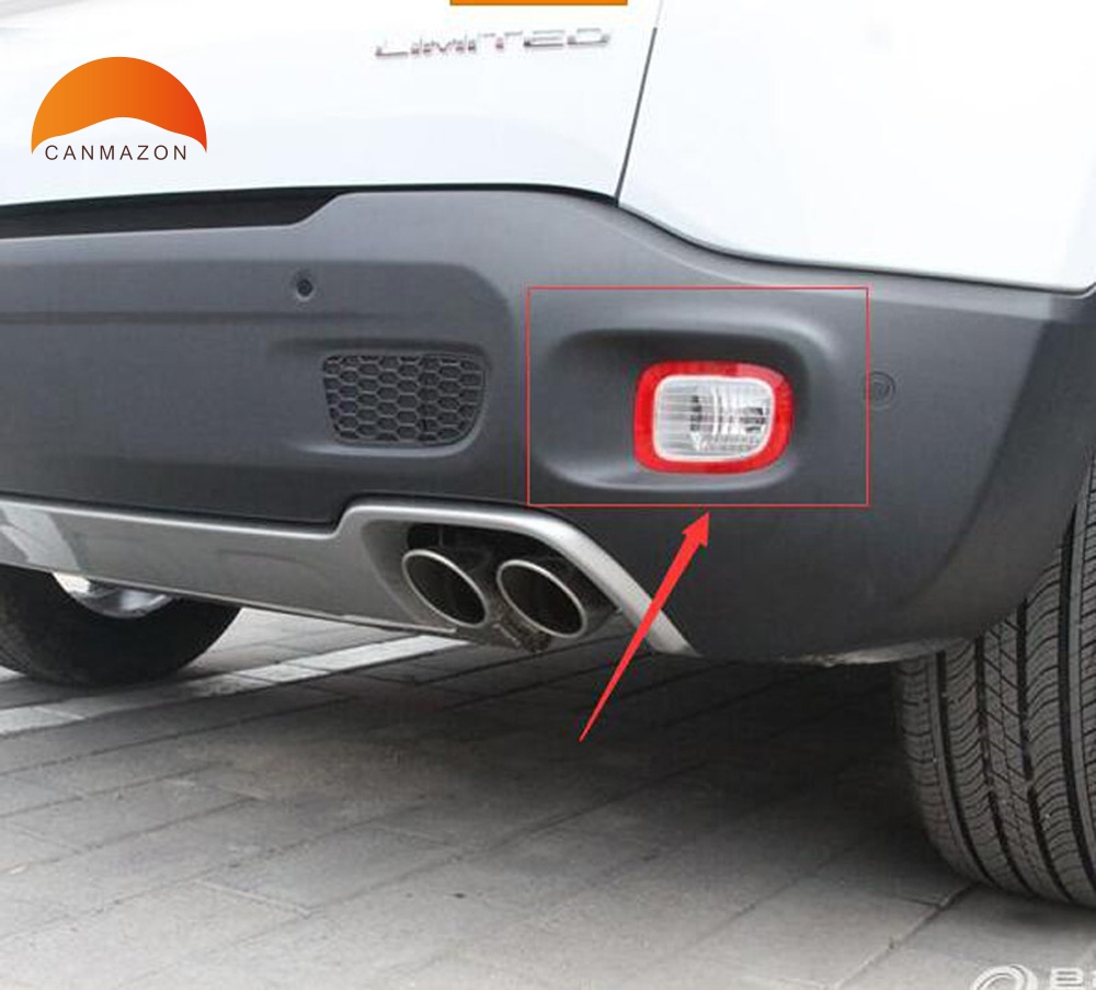 Chrome Rear Tail Light Lamp Cover Trim 2pcs For Chevrolet TRAX 2014 2015 2016