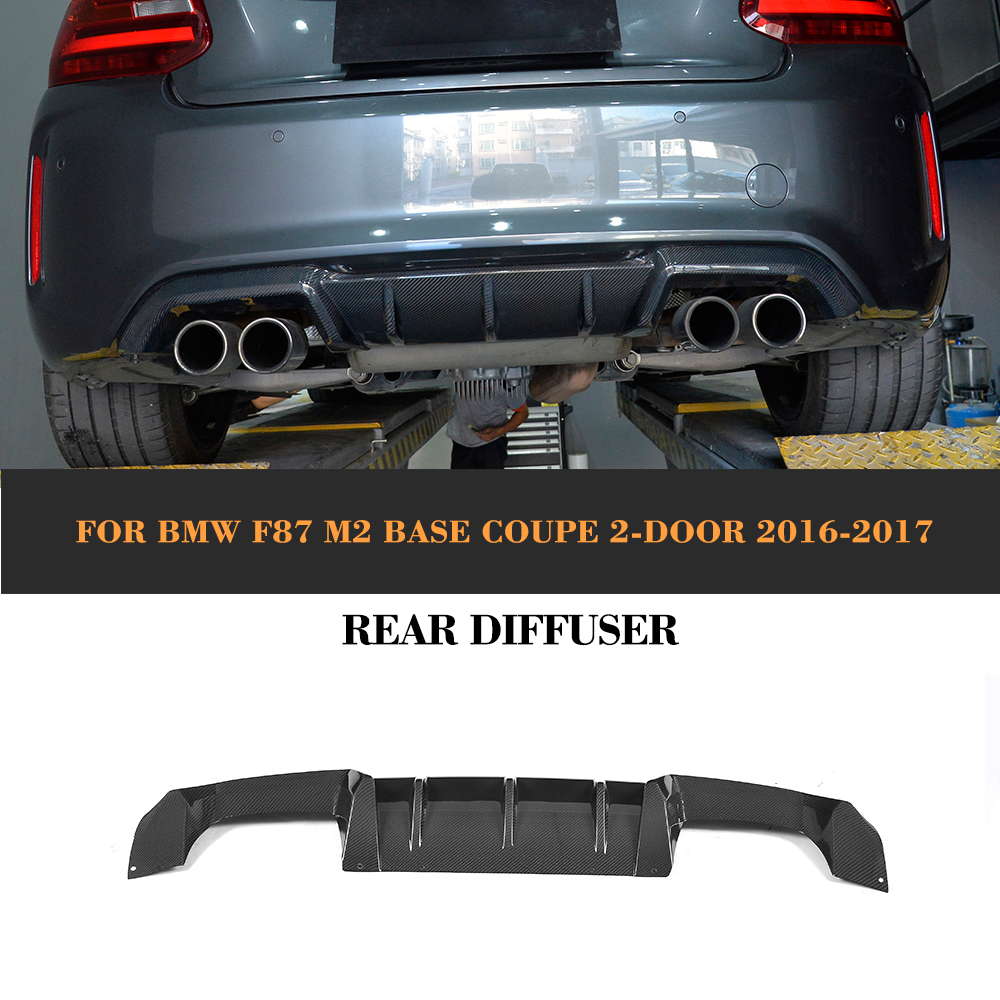 Carbon Fiber Rear Bumper Exhaust Diffuser Lip Spoiler For Bmw F87 M2 Coupe 2 Door 2016 2017 P