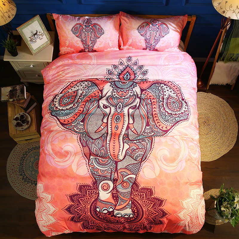 girl wedding bedding set bohemian style comforter cover elephant flower printing twin queen full king size bedspreads washablegirl wedding bedding set bohemian style comforter cover elephant flower printing twin queen full king size bedspreads washable