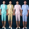 Grupo de estudio estudio de acogida de los novios traje de alta calidad de rendimiento de color de manga corta trajes