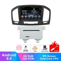 8 IPS Android 9.0 CarPlay Auto Radio For Opel Vauxhall Insignia CD300 CD400 2009 2012 Audio Video DVD Multimedia GPS Navigation