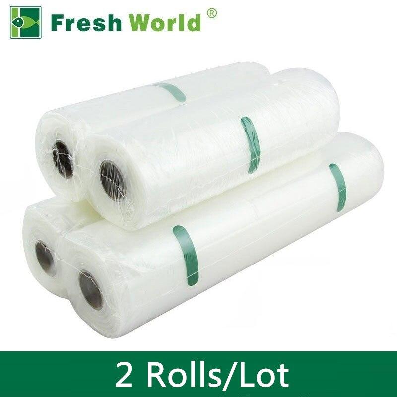 все цены на Vacuum Bags For Food Storage Vacuum Sealer Food Saver Bag 12x500 15x500 20x500 25x500 28x500 Fresh World Vacuum Packaging Rolls онлайн