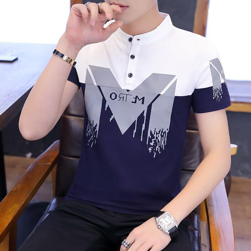 Summer Fashion Men's T Shirt Casual Short Sleeve Men's T-shirt Mens Casual Clothing Slim Hip-hop Top Tees 2