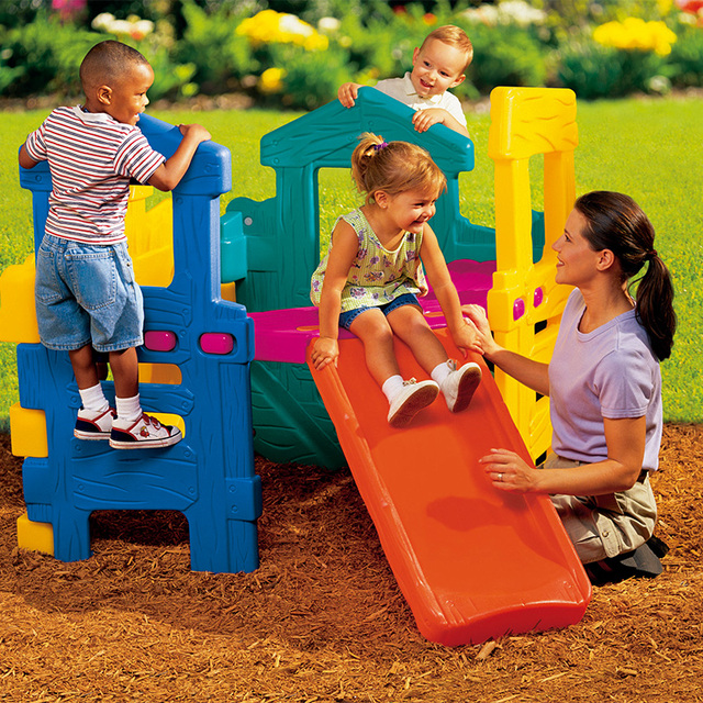 Little tikes outdoor toys baby puzzle child slide simple ...