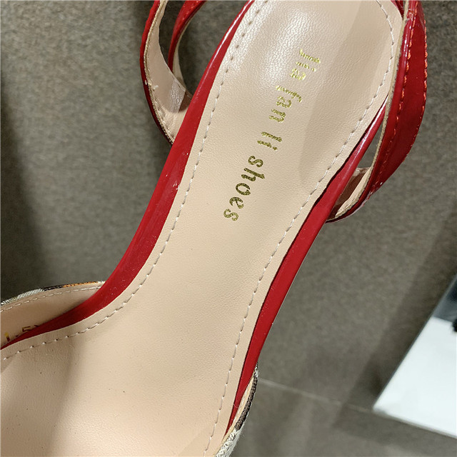 Spring summer new 2020 fine with single shoes shallow mouth ladies pointed Pumps sandals women fashion comfortable high heels