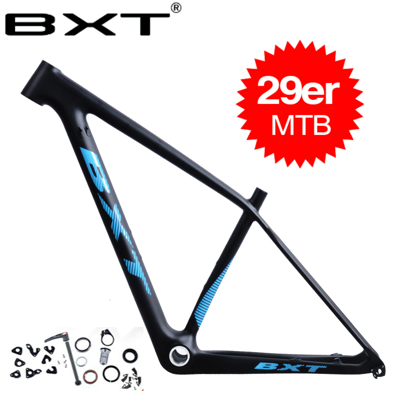 Carbon Mountain Bike Frame 29er BXT Chinese Carbon Mtb Bicycle Frame T800 Carbon Fibre Frame Bike 29er Carbon Frame Orange Matte