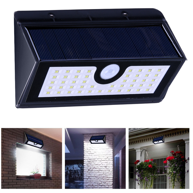 300lm 45 led solar power led light pir motion sensor wall light 300lm 45 led solar power led light pir motion sensor wall light waterproof outdoor garden street mozeypictures Images