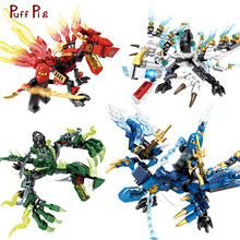 4PCS/Lot Dragon Knight Ninjagoes Action Figures Set Building Blocks Bricks Toys For Children Giocattoli Jouet City Boys Gift(China)