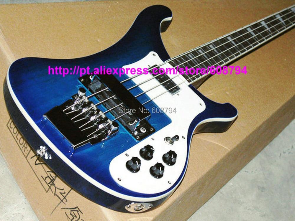 4003 bass guitar custom 4 strings bass blue burst electric bass guitars high quality factory. Black Bedroom Furniture Sets. Home Design Ideas