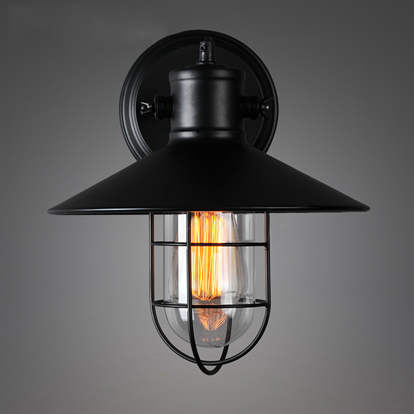 iron wall lamp loft wall light for outdoor use 28cm arandela externa