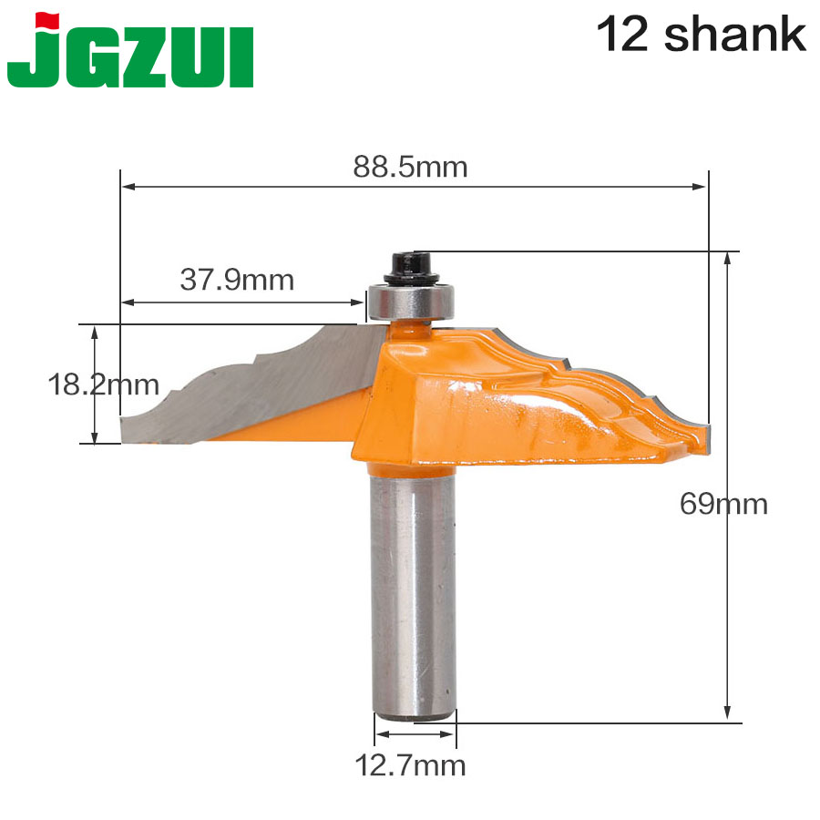 1pc1/2 Shank Crown Molding Router Bit Line knife Woodworking cutter Tenon Cutter for Woodworking Tools 10pc 1 2 shank architectural molding router bit set line knife woodworking cutter tenon cutter for woodworking tools