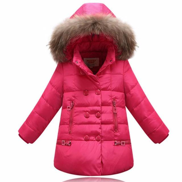 Venda quente de 2016 moda outono e inverno boné de beisebol cor feitiço Coreano das crianças do algodão Da Menina quente para baixo casaco