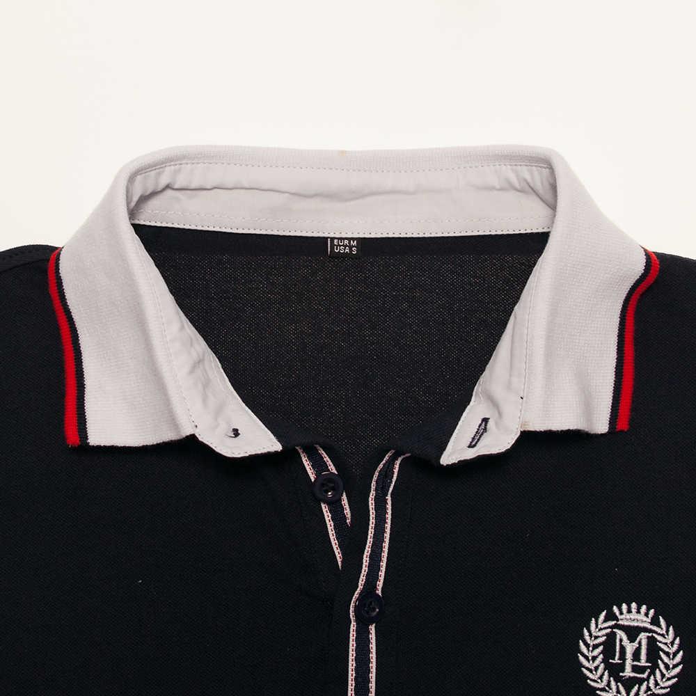 Fredd Marshall New Summer 2018 Men's Mixed Media Baseball Polo Shirt Homme Short Sleeve 100% Cotton Casual Polo Shirt FM032