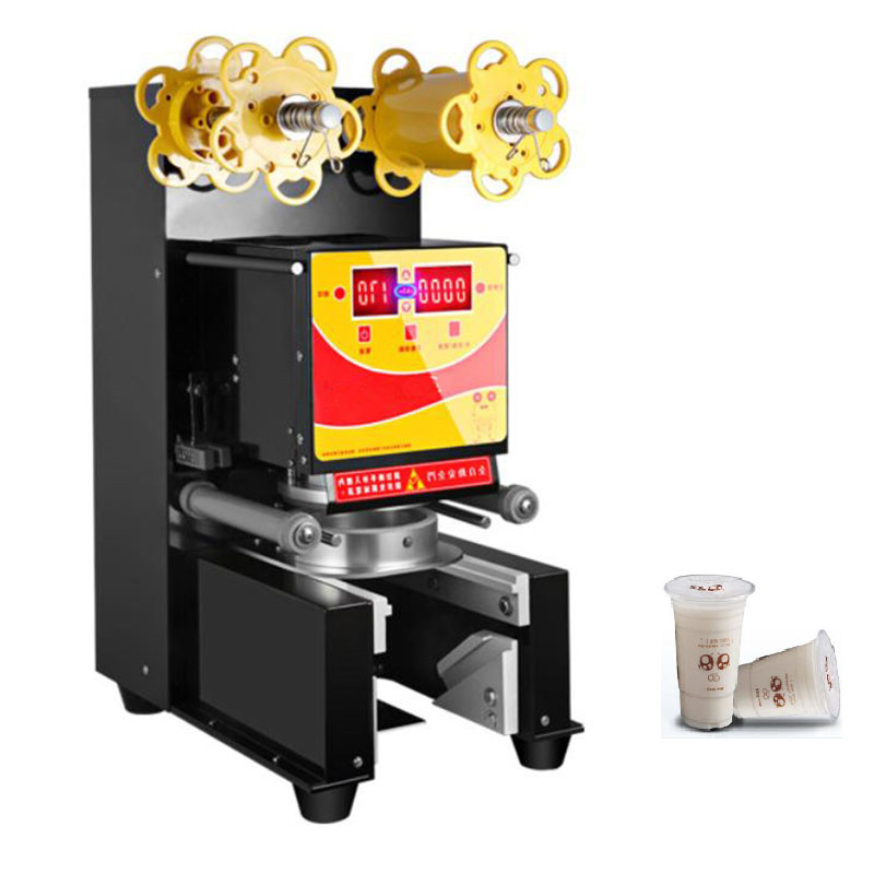 Jamielin 580W Automatic Cup Sealing Machine 95mm/90mm Electric Bubble Tea Milk/Coffee Packing Sealer Pressure Paper/Plastic Cup
