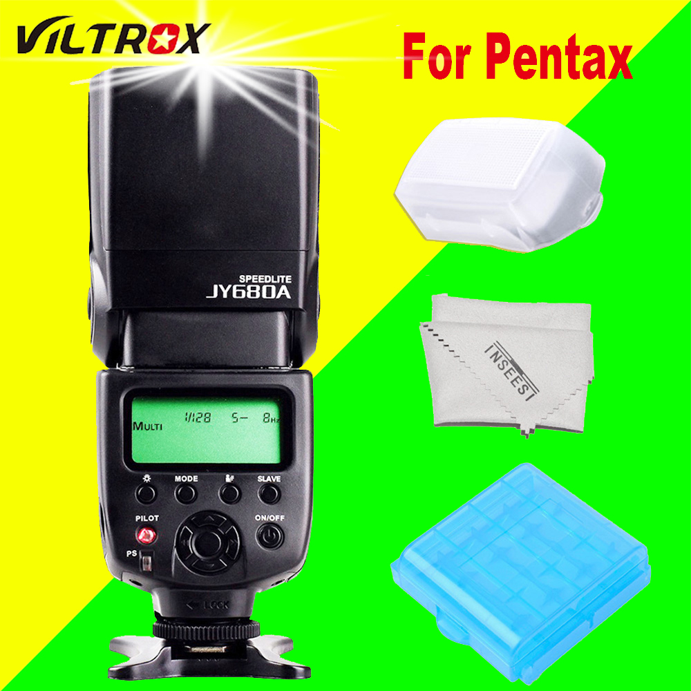 VILTROX JY680A Wireless Flash Speedlite JY-680A Flash Speedlight For Pentax K-50 K-5 II K-30 K-01 K-5 K-r K-x K-m DSLR Cameras pixco mount adapter suit for pentax 67 lens to pentax pk k 3 k 50 k 5 ii k 30 k 01 k 5 k r k x k 7 k m k20d k200d k10d k100d