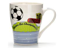 Кружка LORAINE, Футбол, Soccer, 340 мл, белый