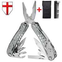 Multiherramienta EDC con Mini herramientas, alicates para cuchillos, cuchillo del ejército suizo y kit de multiherramientas para equipos de camping al aire libre