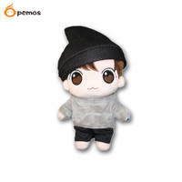 PCMOS KPOP BTS Idol Bangtan Boys Jeon JungKook Characters Plush Toy Fans Made Stuffed Doll