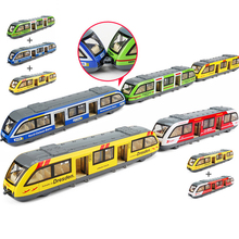 1/64 toy Train Pull back Rail Model Toy with Light Music Diecast Toys Kids Preschool Learning Hot Wheels car
