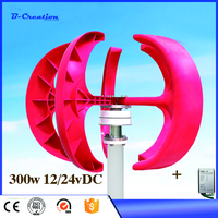 Small 300w 12/24v vertical wind turbine generator type wind turbine with CE ISO for sale