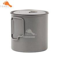 TOAKS 650ml Coffee Mugs Titanium Camping Cup Drinkware Titanium Mug Outdoor And Camping Handgrip Water Cup