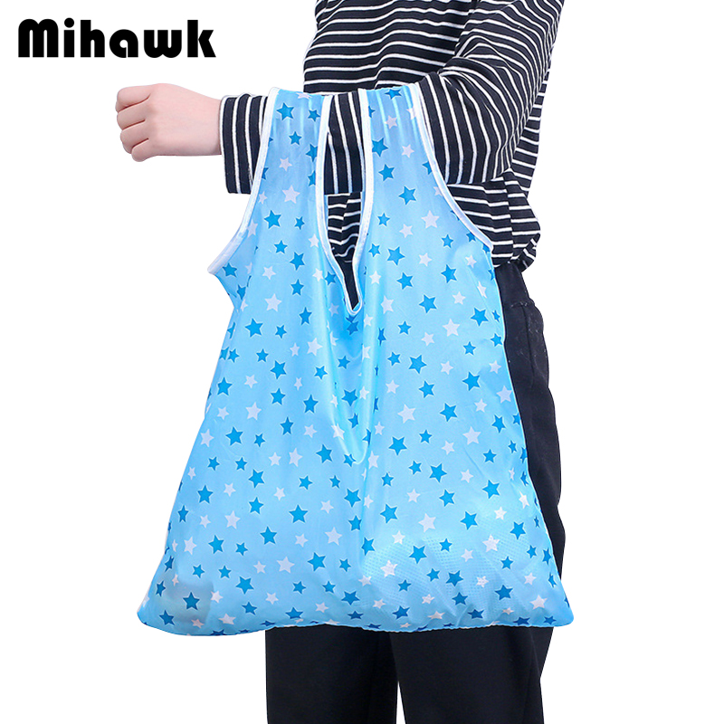 Mihawk Polyester Foldable Shopping Bags Portable Hanging Picnic Tote Household Bag Store Storage Organization Pouch Accessories shelterlogic 15577 store it canopy rolling storage bag