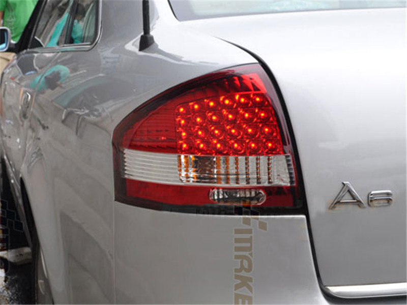 Free shipping for vland factory for Audi A6 taillight led rear lamp 1999 2004   plug and play design free shipping vland factory car parts for camry led taillight 2006 2007 2008 2011 plug and play car led taill lights